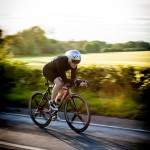 "Mike Morley ""Cyclist racing along a Yorkshire country road""  Equipment: Canon 5D MKII & 100-400 f4 L"
