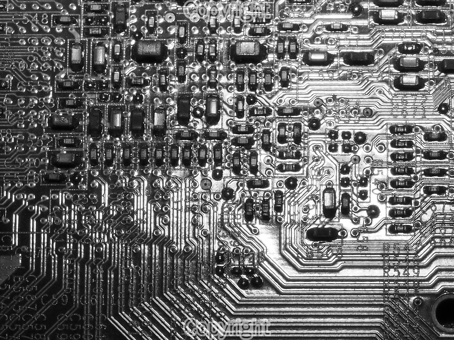 Bob Wood: Computer printed circuit board.  Equipment: Olympus OMD M1 & 60mm Macro Lens